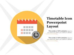 Timetable Icon Powerpoint Layout