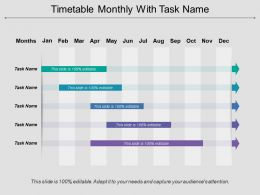 Timetable Monthly With Task Name