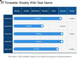 Timetable Weekly With Task Name