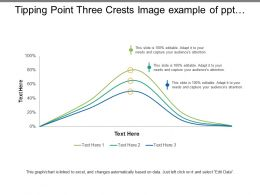 Tipping Point Three Crests Image Example Of Ppt Presentation