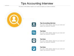 Tips Accounting Interview Ppt Powerpoint Presentation Inspiration Demonstration Cpb