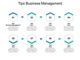 Tips Business Management Ppt Powerpoint Presentation Gallery Model Cpb