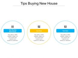 Tips Buying New House Ppt Powerpoint Presentation Professional Outline Cpb