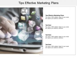 Tips Effective Marketing Plans Ppt Powerpoint Presentation Pictures Outfit Cpb