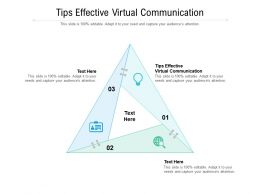 Tips Effective Virtual Communication Ppt Powerpoint Presentation Professional Graphics Pictures Cpb