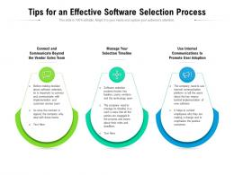 Tips For An Effective Software Selection Process