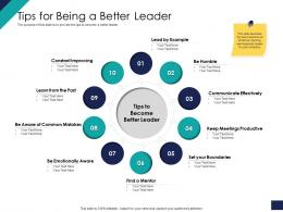 Tips For Being A Better Leader Ppt Powerpoint Presentation Gallery Example Introduction
