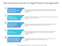 Tips For Business Owners On Agile Product Management