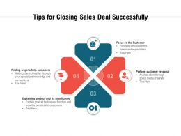 Tips For Closing Sales Deal Successfully