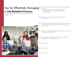 Tips For Effectively Managing A Job Rotation Process
