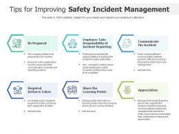 Tips For Improving Safety Incident Management
