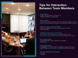 Tips For Interaction Between Team Members