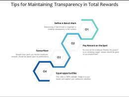 Tips For Maintaining Transparency In Total Rewards
