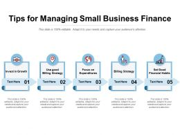 Tips For Managing Small Business Finance