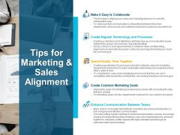Tips For Marketing And Sales Alignment Marketing Powerpoint Slides