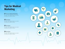 Tips For Medical Marketing Ppt Powerpoint Presentation Model Graphic Images