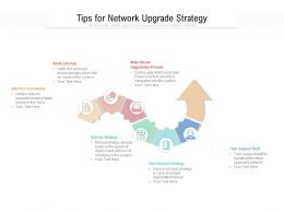 Tips For Network Upgrade Strategy
