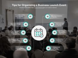 Tips For Organizing A Business Launch Event