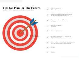 Tips For Plan For The Future