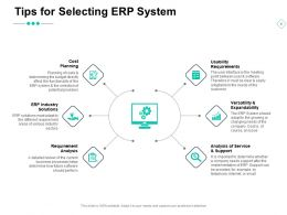 Tips For Selecting Erp System Requirement Analysis Ppt Powerpoint Presentation Ideas Good