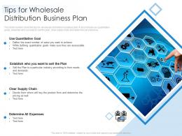 Tips For Wholesale Distribution Business Plan