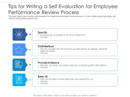 Tips For Writing A Self Evaluation For Employee Performance Review Process