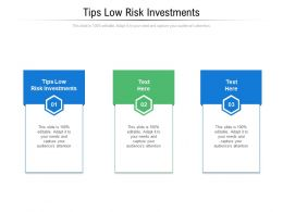 Tips Low Risk Investments Ppt Powerpoint Presentation Styles Images Cpb