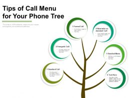 Tips Of Call Menu For Your Phone Tree
