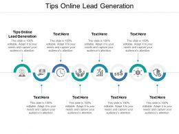 Tips Online Lead Generation Ppt Powerpoint Presentation Slides Background Designs Cpb