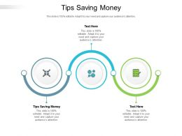 Tips Saving Money Ppt Powerpoint Presentation Professional Graphics Cpb