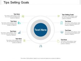 Tips Setting Goals Ppt Powerpoint Presentation Infographic Template Cpb