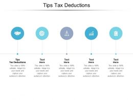 Tips Tax Deductions Ppt Powerpoint Presentation Summary Layout Cpb