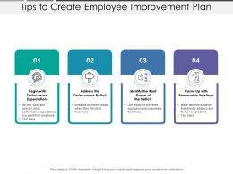 Tips To Create Employee Improvement Plan