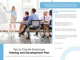 Tips To Create Employee Training And Development Plan