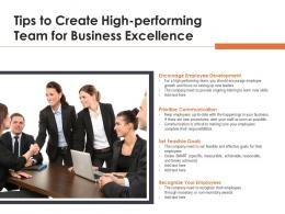 Tips To Create High Performing Team For Business Excellence