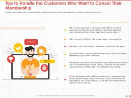 Tips To Handle The Customers Who Want To Cancel Their Membership M1028 Ppt Powerpoint Ideas Aids