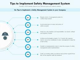 Tips To Implement Safety Management System
