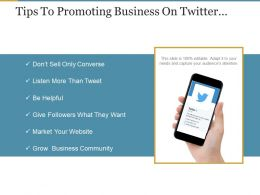 Tips To Promoting Business On Twitter Powerpoint Slide Ideas