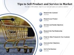 Tips To Sell Product And Service In Market
