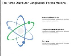 Tire Force Distributor Longitudinal Forces Motions Reference Input Signal