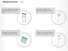 Tissue Roll Stethoscope Glucose Crutches Ppt Icons Graphics