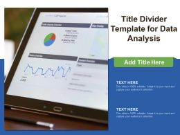 Title Divider Template For Data Analysis
