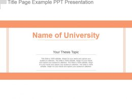 Title Page Example Ppt Presentation