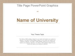 Title Page Powerpoint Graphics