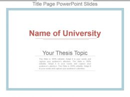 Title Page Powerpoint Slides