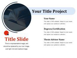 Title Slide Ppt Slides Brochure