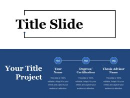 Title Slide Ppt Summary Model