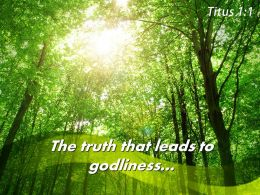 Titus 1 1 The Truth That Leads Powerpoint Church Sermon
