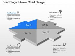 Tj Four Staged Arrow Chart Design Powerpoint Template Slide