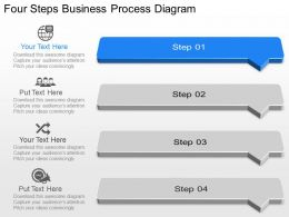 Tm Four Steps Business Process Diagram Powerpoint Template Slide